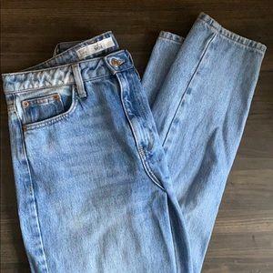 Topshop Bleach Premium Mom Jeans
